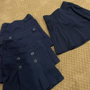 Lot of 4 The Children's Place uniform skirts